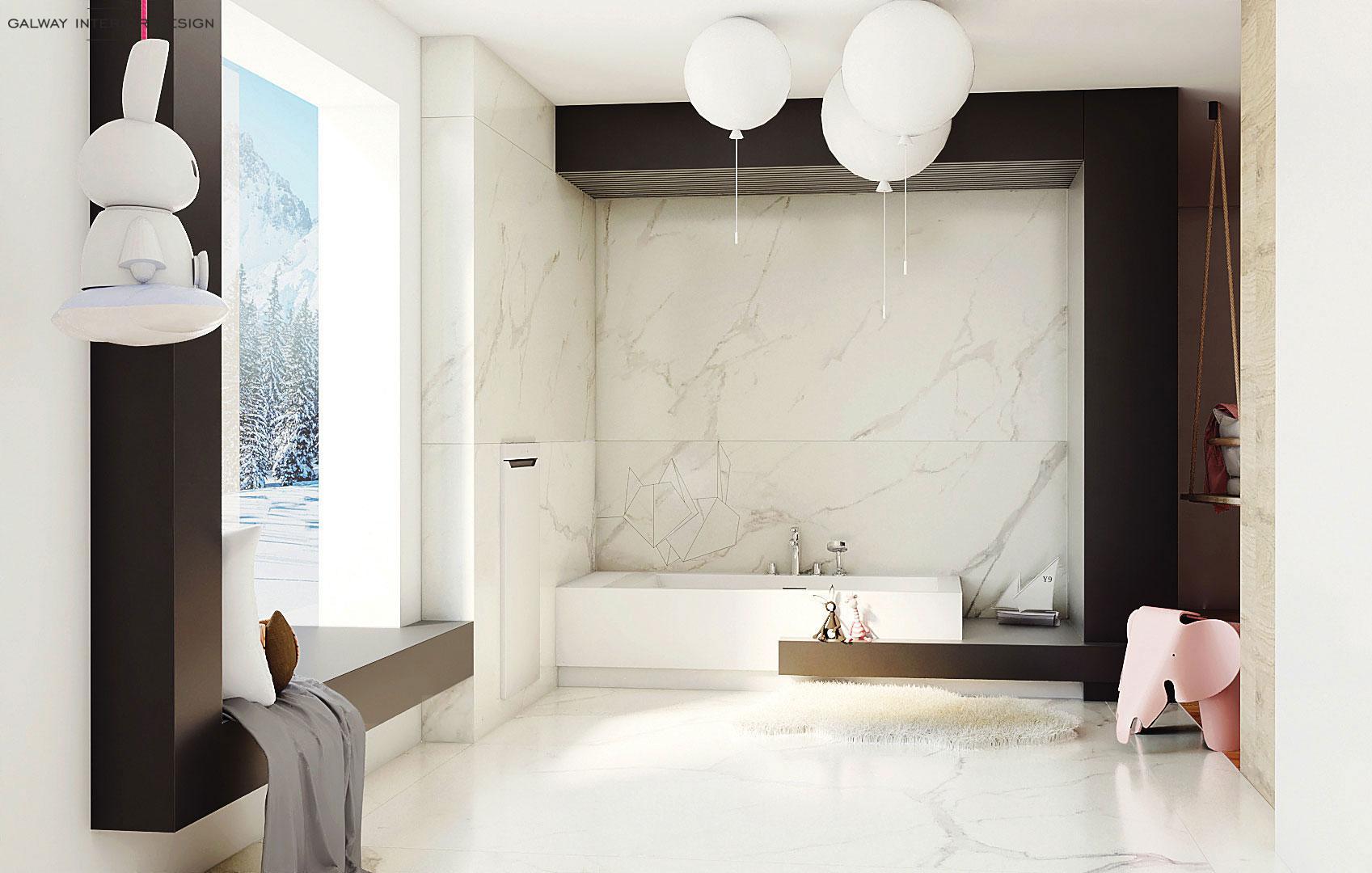 Galway Interior Design - Elegant Kids Bathroom Idea