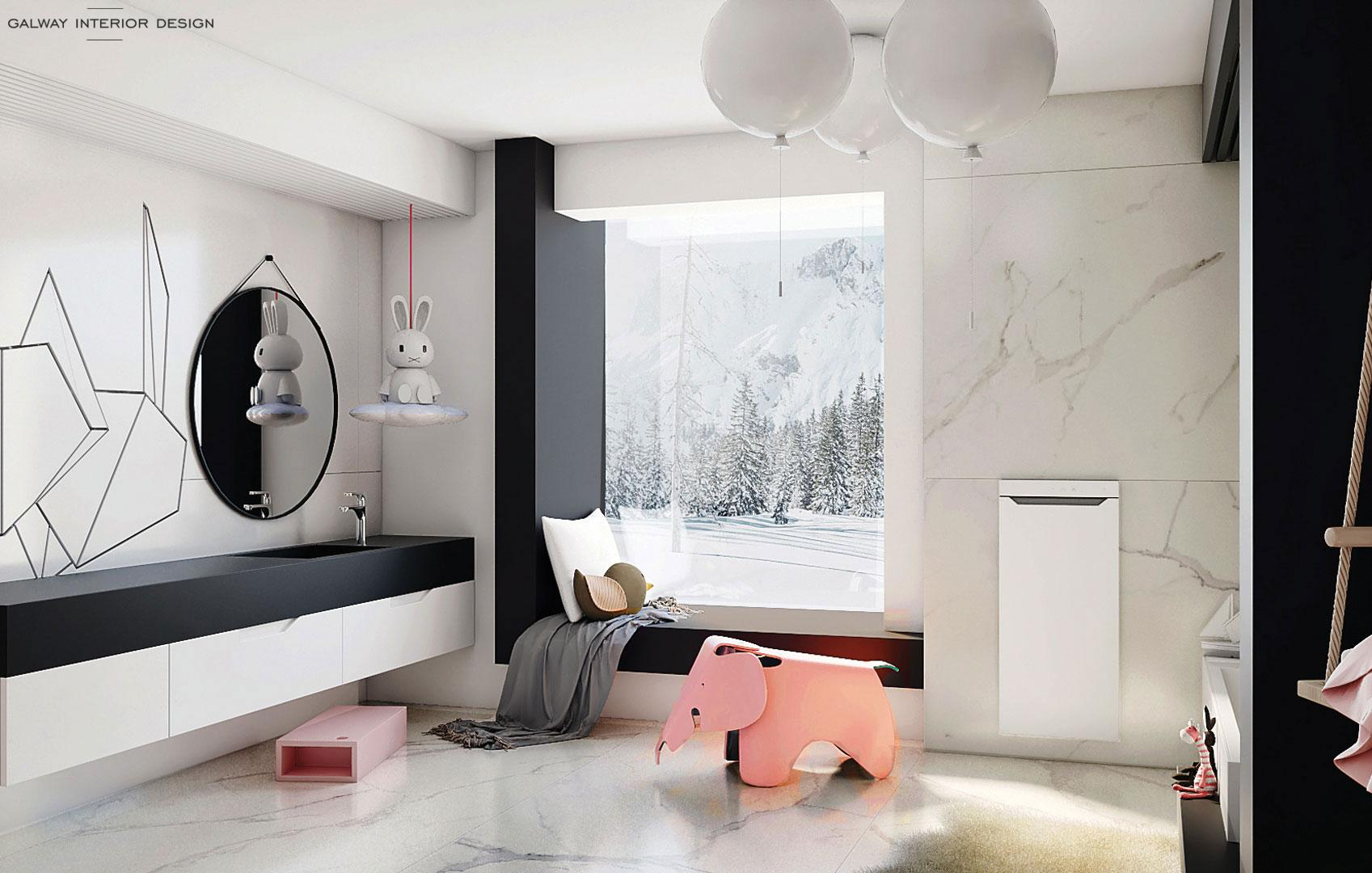 Galway Interior Design - Modern Kids Bathroom
