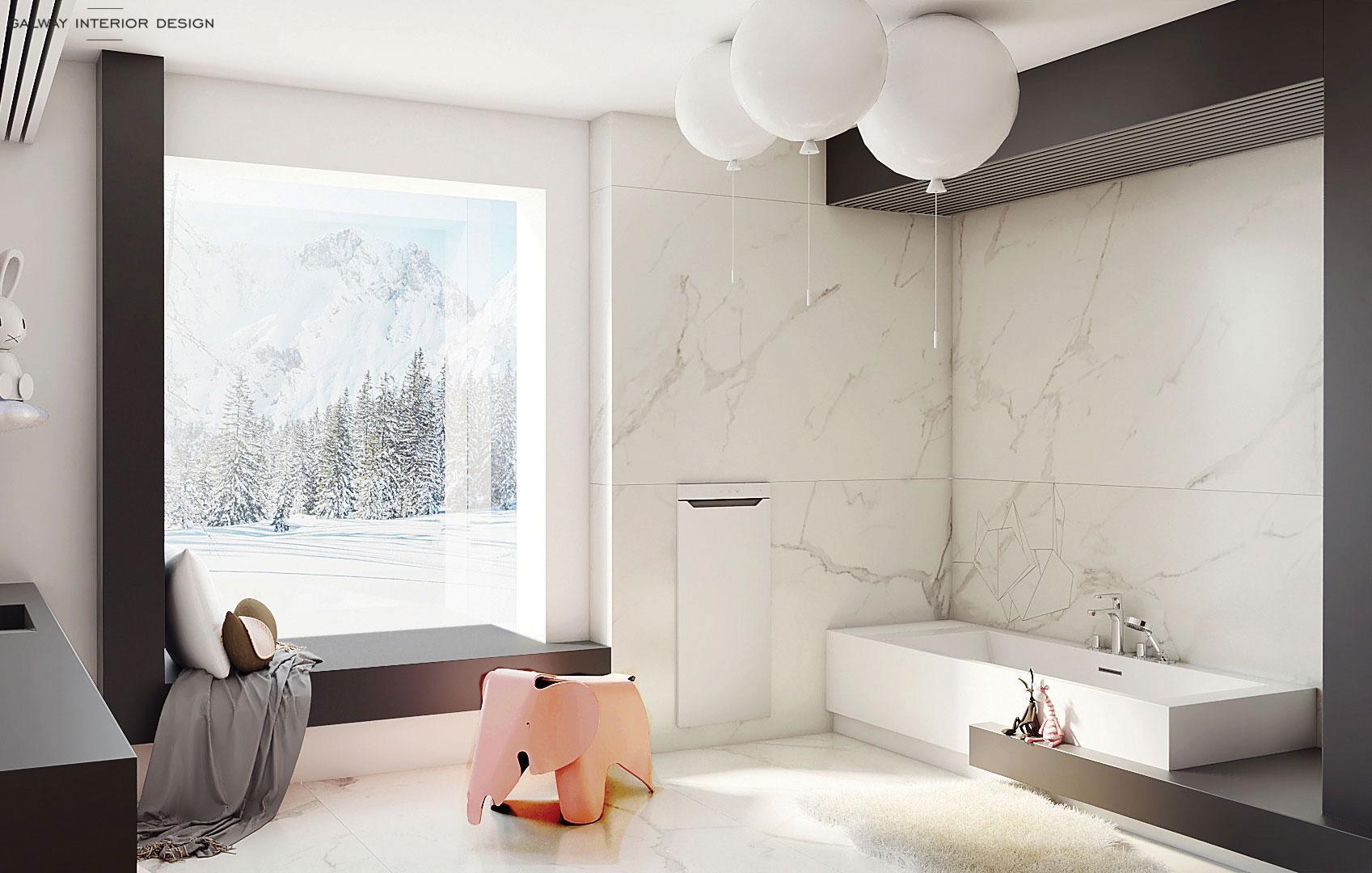 Galway Interior Design Big Kids Bathroom 1