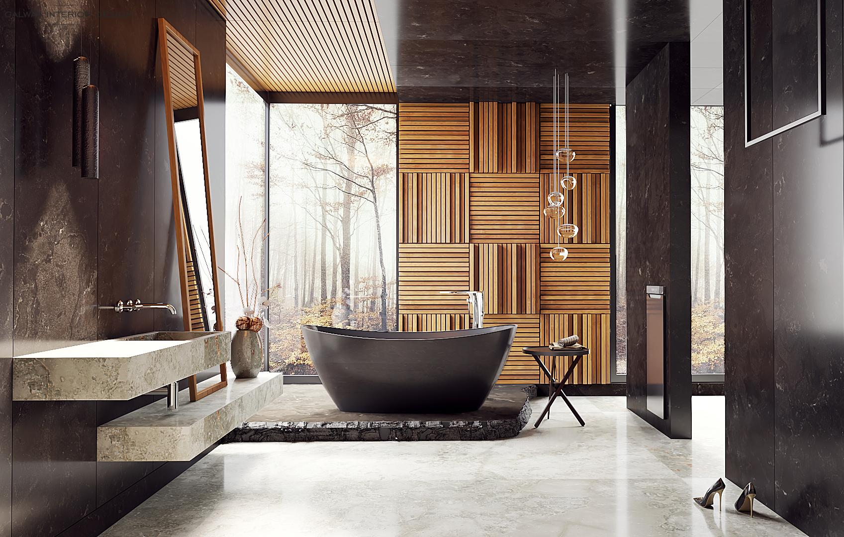 Galway Interior Design - Big Stylish Bathroom
