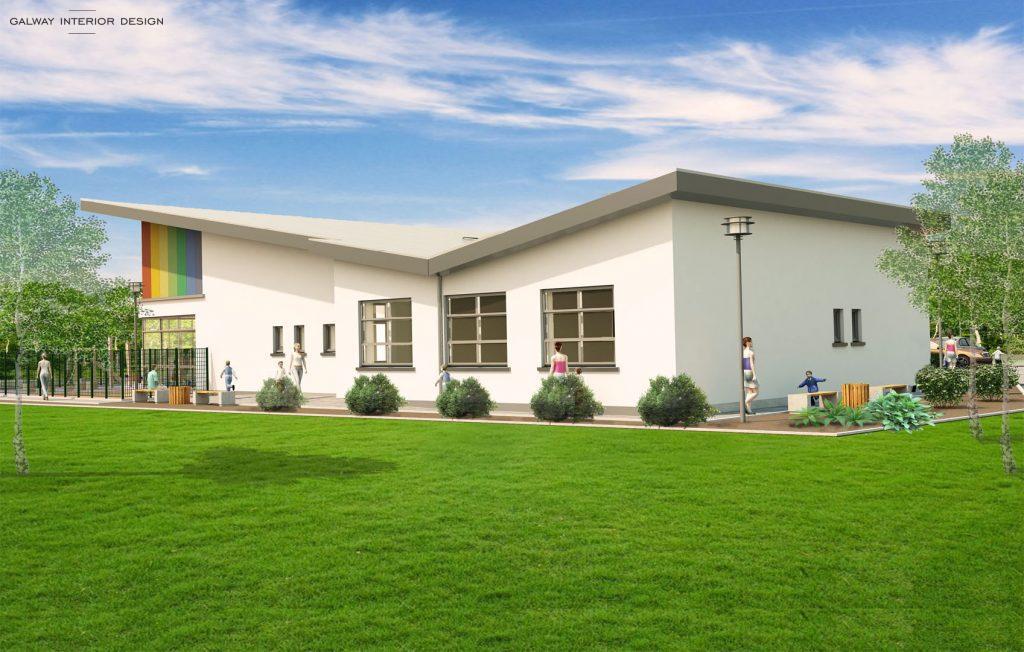 Galway Interior Design Visualisation Preschool Gaelscoil Mhic Amhlaigh East View