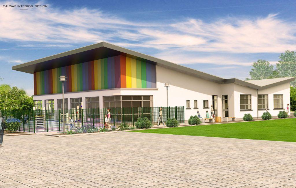 Galway Interior Design Visualisation Preschool Gaelscoil Mhic Amhlaigh South View
